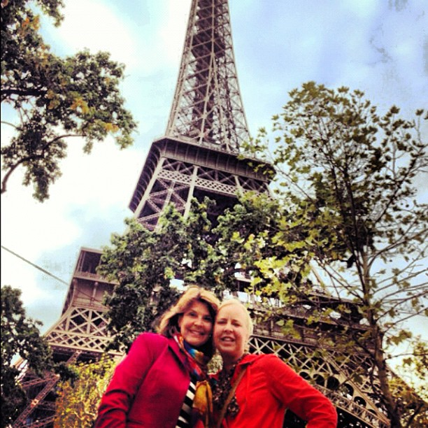 Collette and Sharlie at the Eiffel Tower