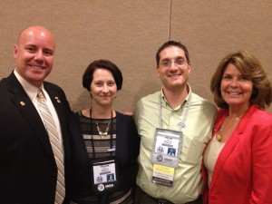 Derek and Kinzie Lee with Zachary Ross and Collette Larsen at USANA's International Convention