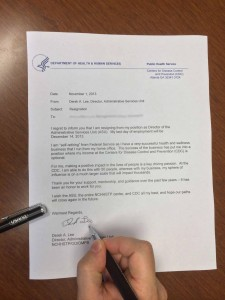 Derek's Letter of Resignation